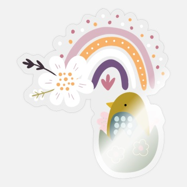 Wait Easter Chick Spring Spring Flowers Nature Spring - Sticker