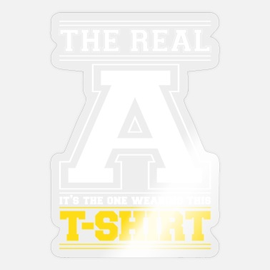 Initial INITIAL A - LETTER A - Sticker