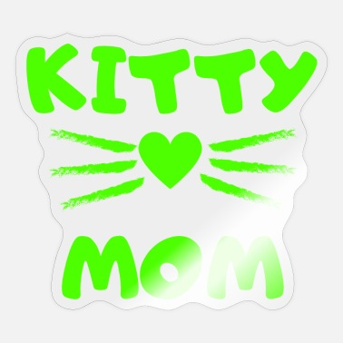Instagram Schnuckibaby Kitty Mom Heart Kitten Cat Cats - Sticker