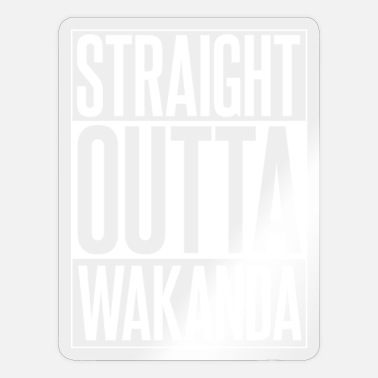 Superstar STRAIGHT OUTTA WAKANDA - Sticker