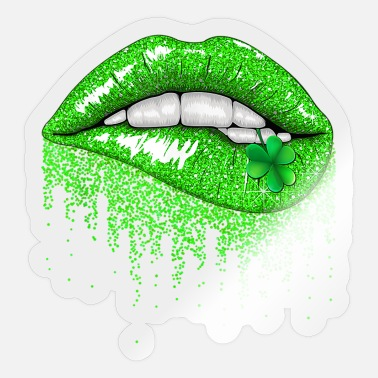 Chicago Green Lips Biting - Sticker
