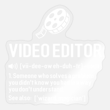 Video video definition, video editing - Sticker