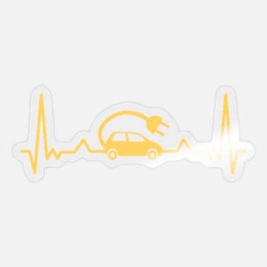 Christmas Eve EV Electric Vehicle Heartbeat Gift Mom Dad - Sticker