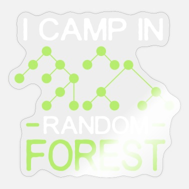 Forest i camp in random forest white - Sticker