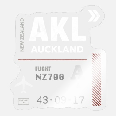 Plane Auckland airport tag - Sticker