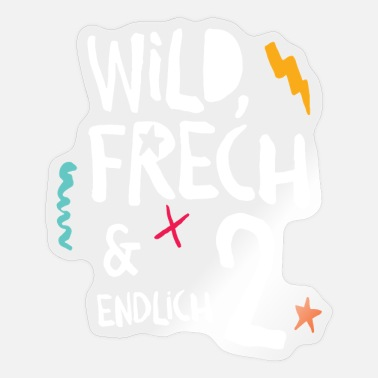 Wild Frech & Finally 2nd Child Second Birthday - Sticker