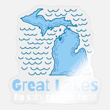 Five Great Lakes GREAT LAKES / MICHIGAN STATE: no salty beaches - Sticker