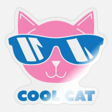 Cool Lover Cool Cat - Cats Lover - Sticker