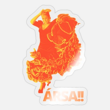 Flores Lola Flores - ARSA ORANGE - Sticker