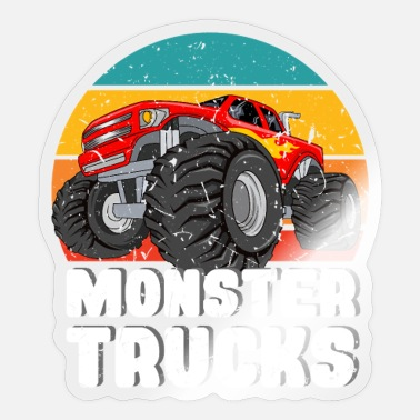Pick-up-van Monster Trucks for Screwdriver or USA Fans - Sticker