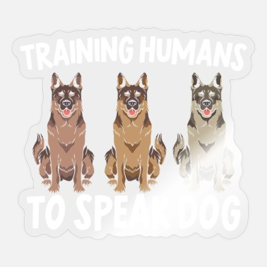 Out Of Office Training Humans To Speak Dog Trainer Doggy Puppy - Sticker