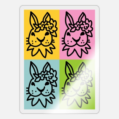 Spring Easter Rabbit girl 4_1_ - Sticker