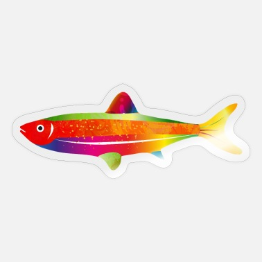 Tail Fin bright imaginative colorful fish - Sticker