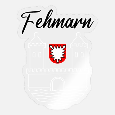 Ferieninsel Fehmarn Wappen Ferieninsel Ostsee Souvenir - Sticker