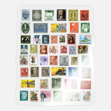 Postage Design of postage stamps - Sticker