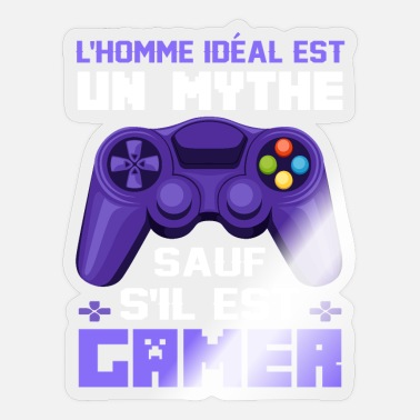 Programmemer l' homme ideal est mythe - video game gamer gambler - Sticker
