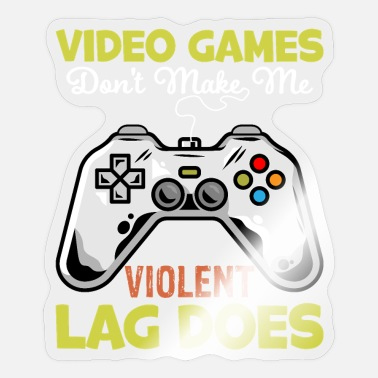 Programmemer Games dont make violent - video game gamer gambler - Sticker