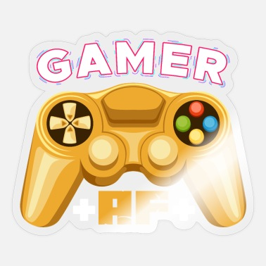 Programmemer Gamer AF - Video game ruse gamer gamer multiplayer - Sticker