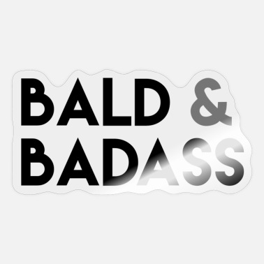 Maan Bald & Badass - Sticker