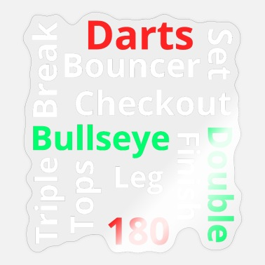 Bounce Darts Bullseye Double 180 Triple break Finish Set - Sticker