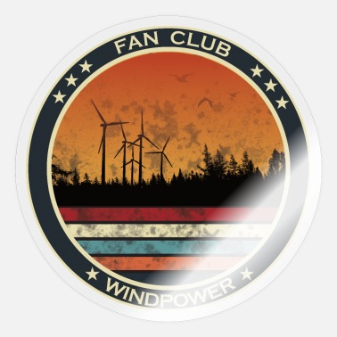 Strom Windkraft Fan Club - erneuerbare Energie - Sticker