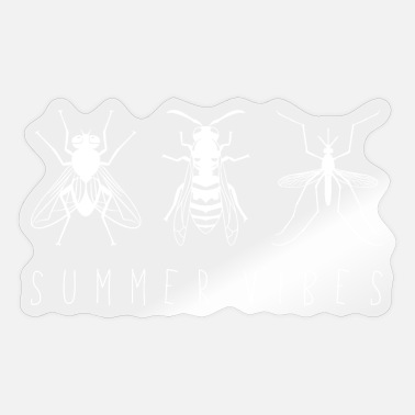 Mosquito Fly wasp mosquito _SummerVibes _white_lefthand - Sticker