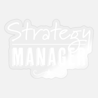 Karriere Strategy Manager weiss - Sticker