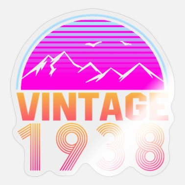 Since Retrowave Vintage 1938 Birthday Gift Idea - Sticker