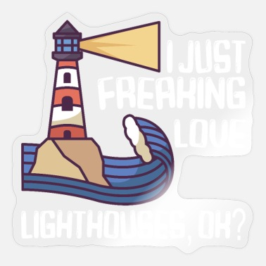 Captain Lighthouse Seaside Nautical I just love lighthouse - Sticker