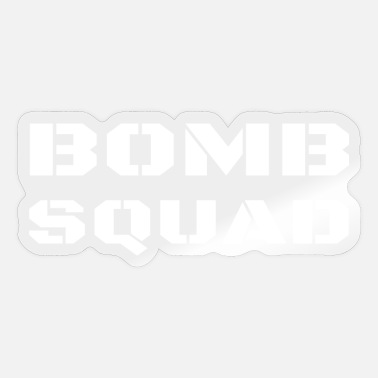 Policewoman Bomb Squad Disposal Technician Police Unit Uniform - Sticker