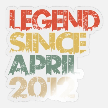 Allergy Legend Since April 2012 - Sticker
