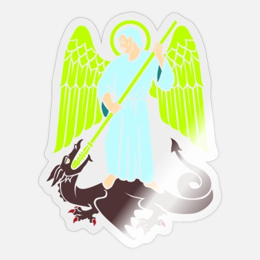 Crusaders Angel and dragon - Sticker