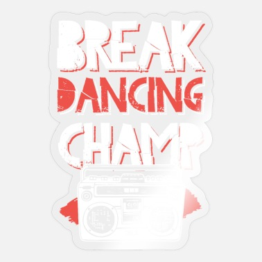 Rapper kamp breakdance dansen - Sticker