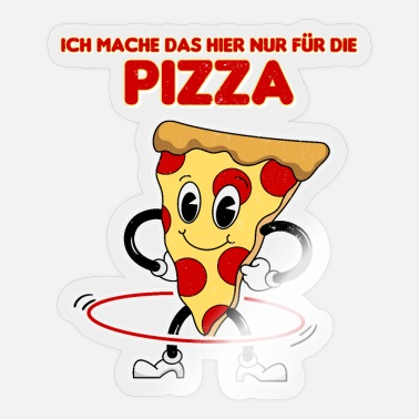 Funny Retro Pizza Hula Mature Design - Sticker