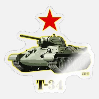 Ww2 T34 Soviet tank ww2 - Sticker