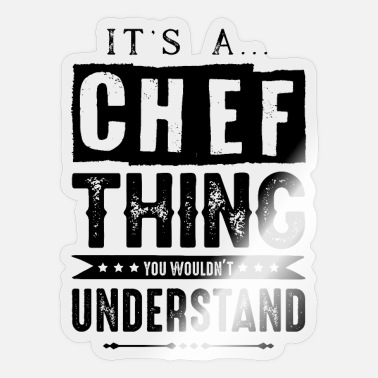 Apron chef chef chef kitchen - Sticker