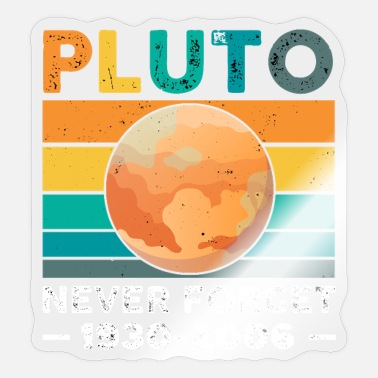 Never Forget Pluto Vintage Never Forget Pluto Retro - Sticker