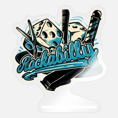 Rockabilly Rock Rockabilly Friseur Schere Kamm Barber - Sticker