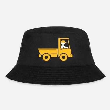 Driver A Pickup Truck Drives To A Warehouse - Bucket Hat