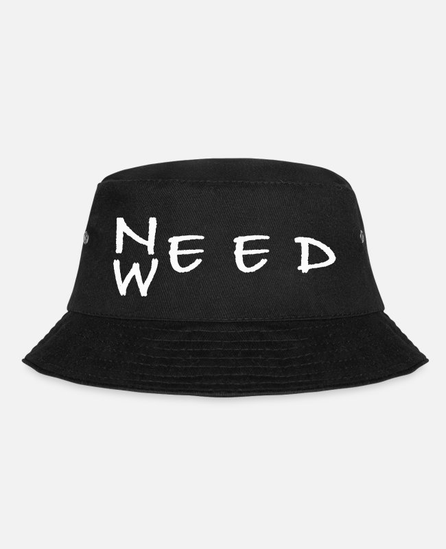 Rasta Caps & Hats - weed need weed marijuana hemp ganja smoker leaf - Bucket Hat black