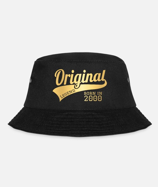 00 Caps & Hats - 2000 Present Bday Birthday Present Gift - Bucket Hat black