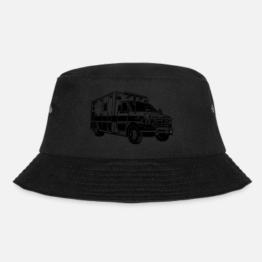 Ambulance Ambulance / ambulance 01_black - Bucket Hat