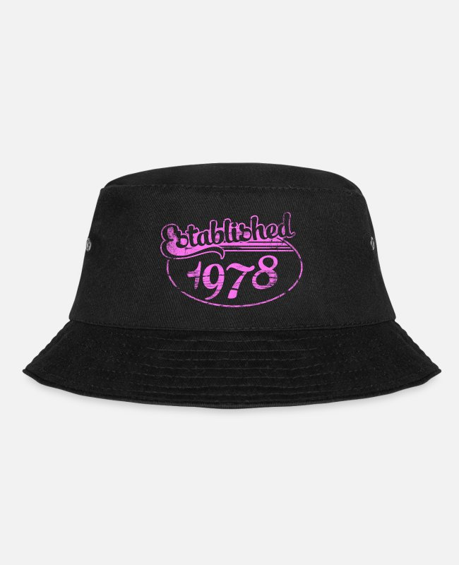 78 Casquettes et bonnets - established 1978 dd (fr) - Bob noir