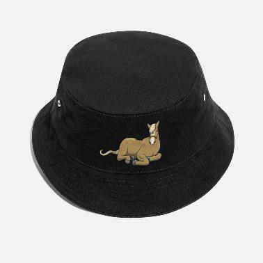 Hafflinger Lying horse - Bucket Hat