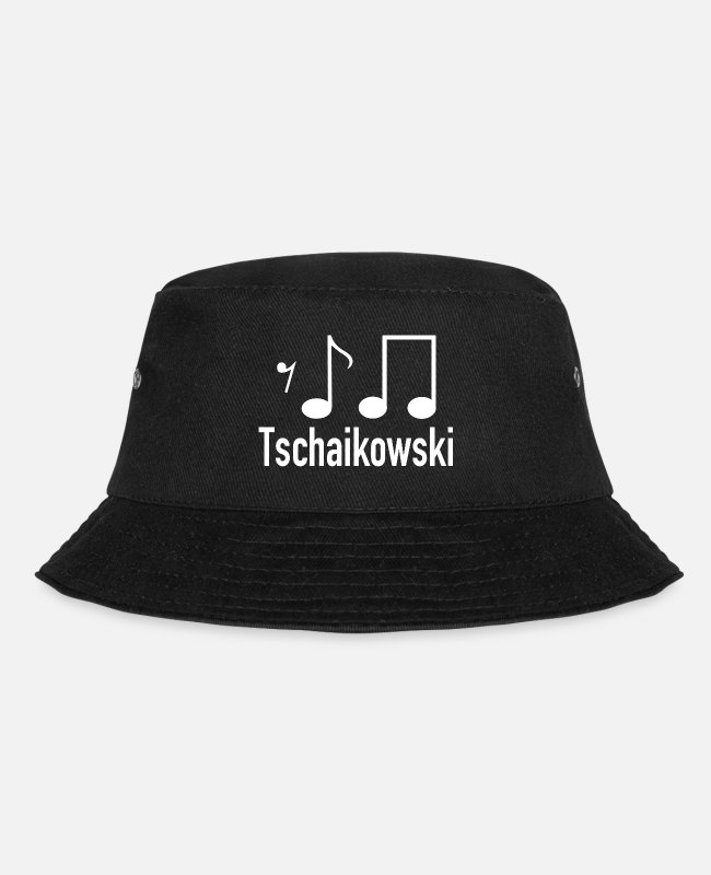 Mood Caps & Hats - Tchaikovsky classical music - Bucket Hat black