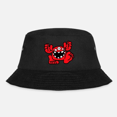 Proud To Be A Monster Cartoon by Cheerful Madness! - Bucket Hat