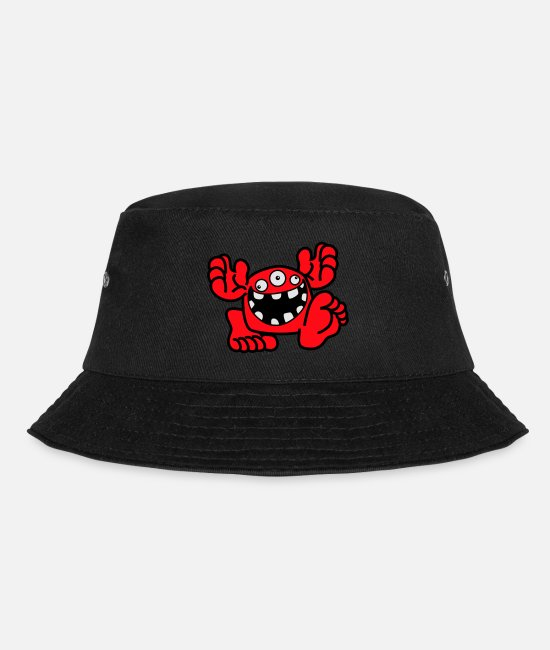 Small Caps & Hats - Proud To Be A Monster Cartoon by Cheerful Madness! - Bucket Hat black