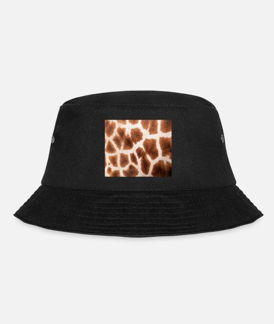 Nature Caps & Hats - Giraffe Giraffe Zoo Safari skin fur pattern decoration - Bucket Hat black