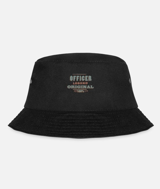 Office Caps & Hats - Officer - Bucket Hat black