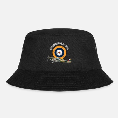 Air Retro Design Supermarine Spitfire Warbird Airplane - Bucket Hat